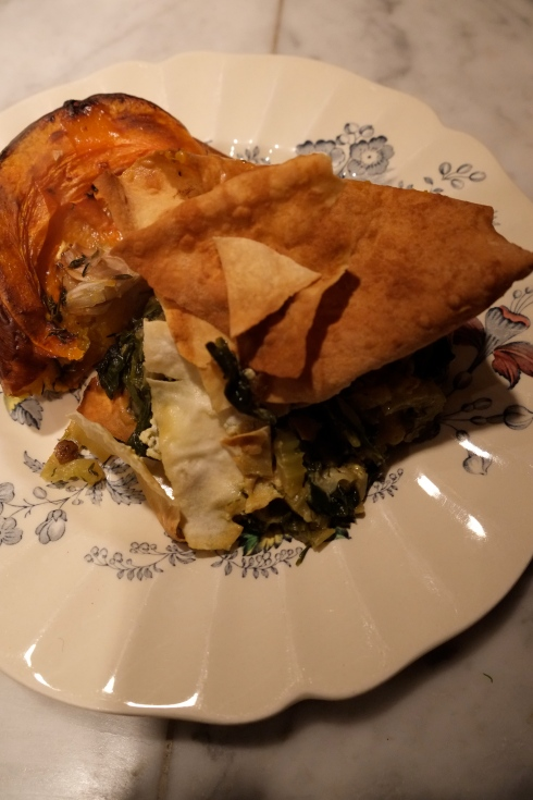vegetarian greens pie